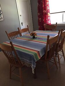 Pedestal Dining Room Table, Bass River Chairs