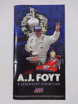 A.J. Foyt A Legendary Exhibition Book Indianapolis Motor Speedway Museum Indy500