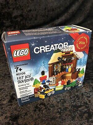 LEGO 40106 Creator Toy Workshop Christmas 2014 Xmas Holiday Winter New Sealed