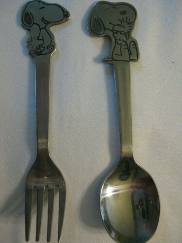 Peanuts - Snoopy and Woodstock Vintage Spoon & Fork Set Danara 1965 in VGC