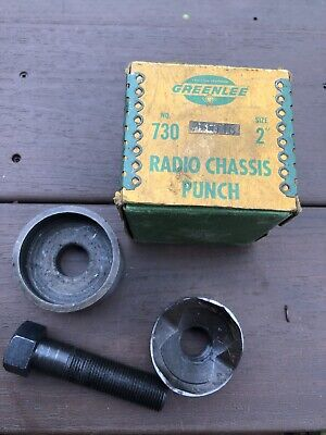 Vintage Greenlee Radio Chassis Punch No. 730 2 Size - Hard To Find
