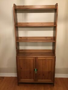 IKEA Shelves with Cabinet