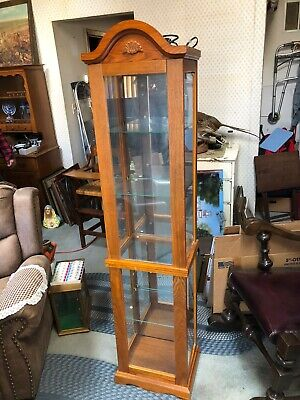Wood And Glass SHELF Home Traditional Curio Cabinet Traditional WITH LIGHTS Traditional Curio Cabinets