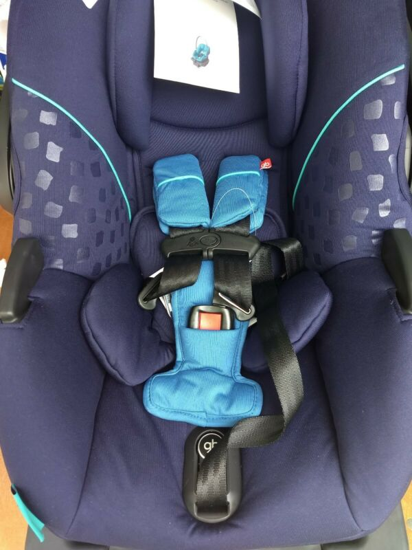 New GB Gold Asana dark blue Infant Car Seat with load leg Base