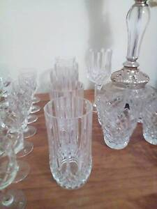 Assorted Crystal Wine/Port/Drinking Glasses Wynn Vale Tea Tree Gully Area Preview