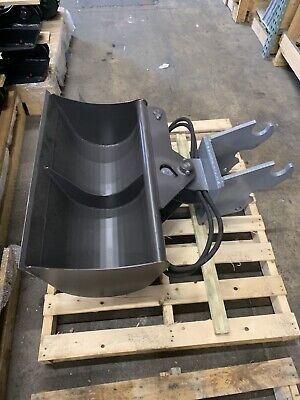 36 Hydraulic Ditching Grading Bucket For Kubota Mini Excavators