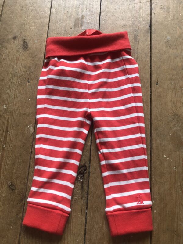 Joules Baby Boy Unisex 6-9 Months Red White Stripe Trousers /leggings
