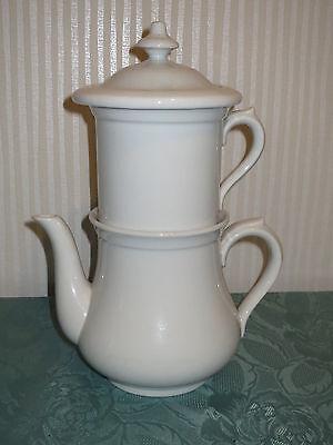 schöne alte Kaffeekanne, Kanne m. Filter, Porzellan Hutschenreuther