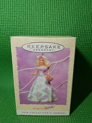 1995 Hallmark Easter Collection Springtime Barbie Christmas Tree Ornament
