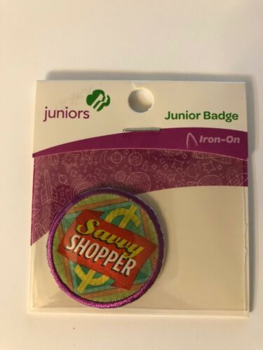 Girl Scout JUNIORS Badge ~ SAVVY SHOPPER ~ new - made in china