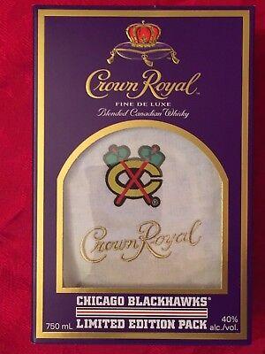 2017 CHICAGO BLACKHAWKS BAG & BOX LIMITED EDITION CROWN ROYAL PACK