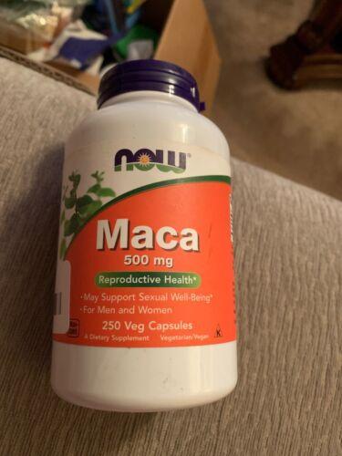 NOW Foods MACA 500mg Vitality Energy Libido Stamina - 250 Ve