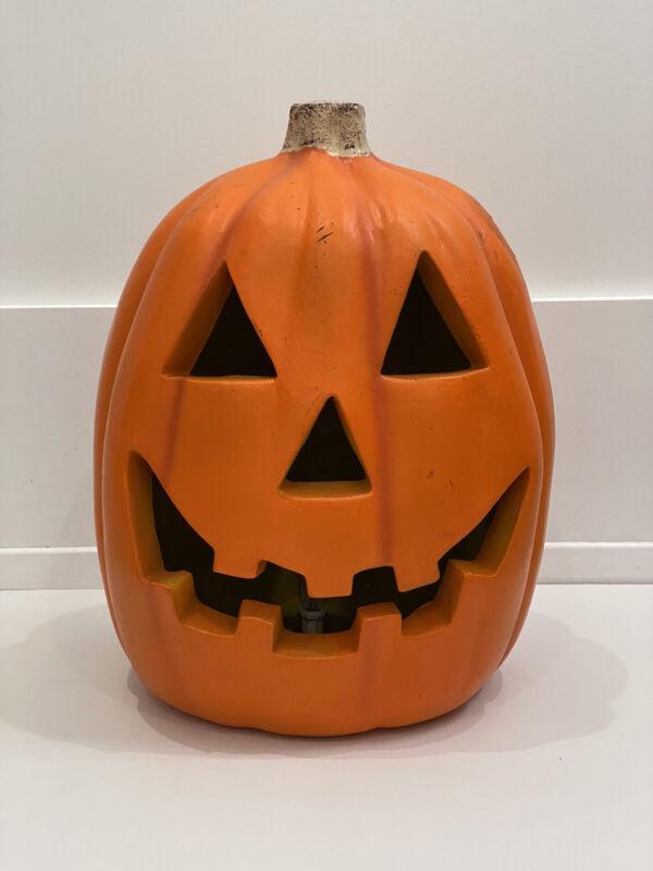"""Large Vintage Jack O Lantern Pumpkin - Lighted - 16"""" Tall - 1998"""