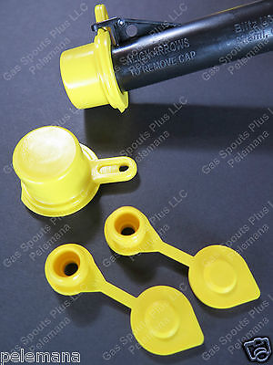 2-pack Blitz Spout Caps 2 Free Yellow Gas Can Vents Worth 4.99 Blow Out Sale