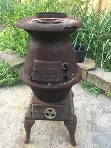 Outdoor antique wood stove