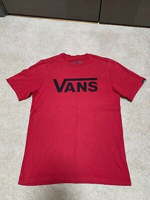 Boys Vans Red T Shirt - Medium
