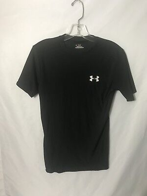 Mens Medium Under Armour Mens Tight Fit Athletic Black Workout T Shirt 030 M