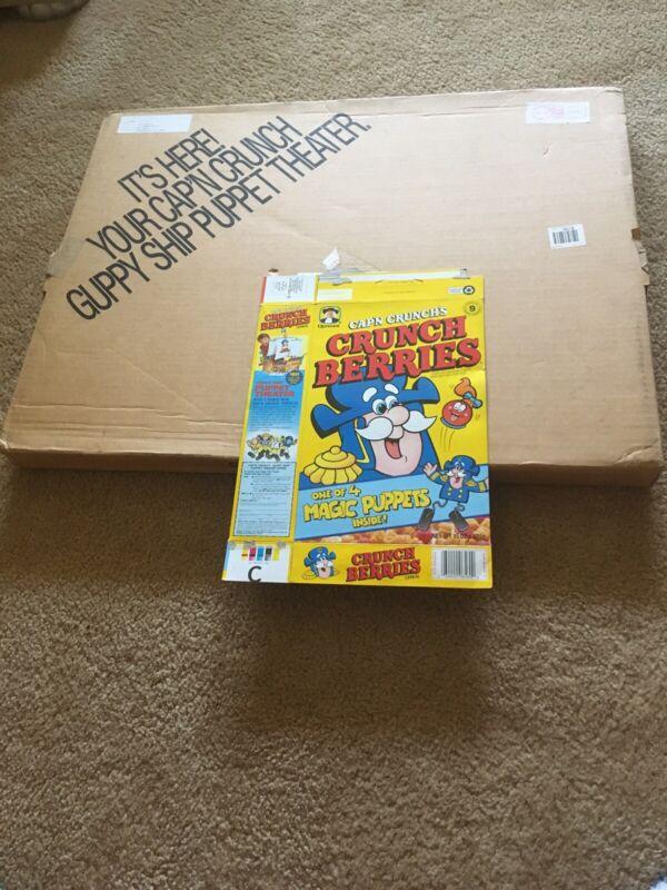 Cap'n Crunch Guppy Ship Puppet Theater-Quaker Cereal Premium MIB 1991
