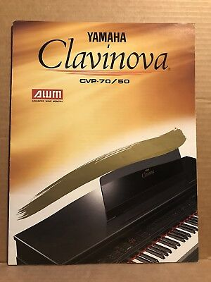 Vintage Yamaha Clavinova CVP-70 50 Piano Fold Out Sales brochure Japan AWM for sale  Shipping to Canada