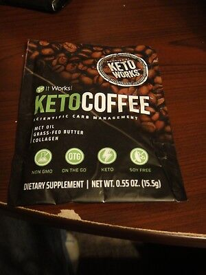 It Works Keto Coffee   Single Serve Packet  Carb Management