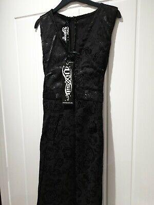"Vixxsin Brocade "" death dress "" size Xl Goth / Steampunk / Victoriana"