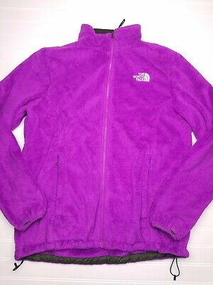 THE NORTH FACE osito Women's Purple Fleece Full Zip Jacket Size XL X-large G25