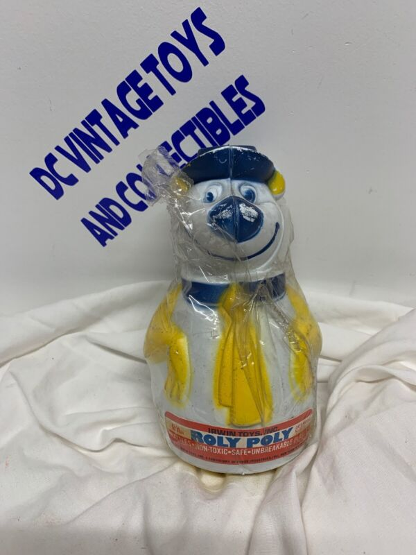 Vintage Yogi Bear Yellow and Blue Roly Poly Toy Tippy Toy