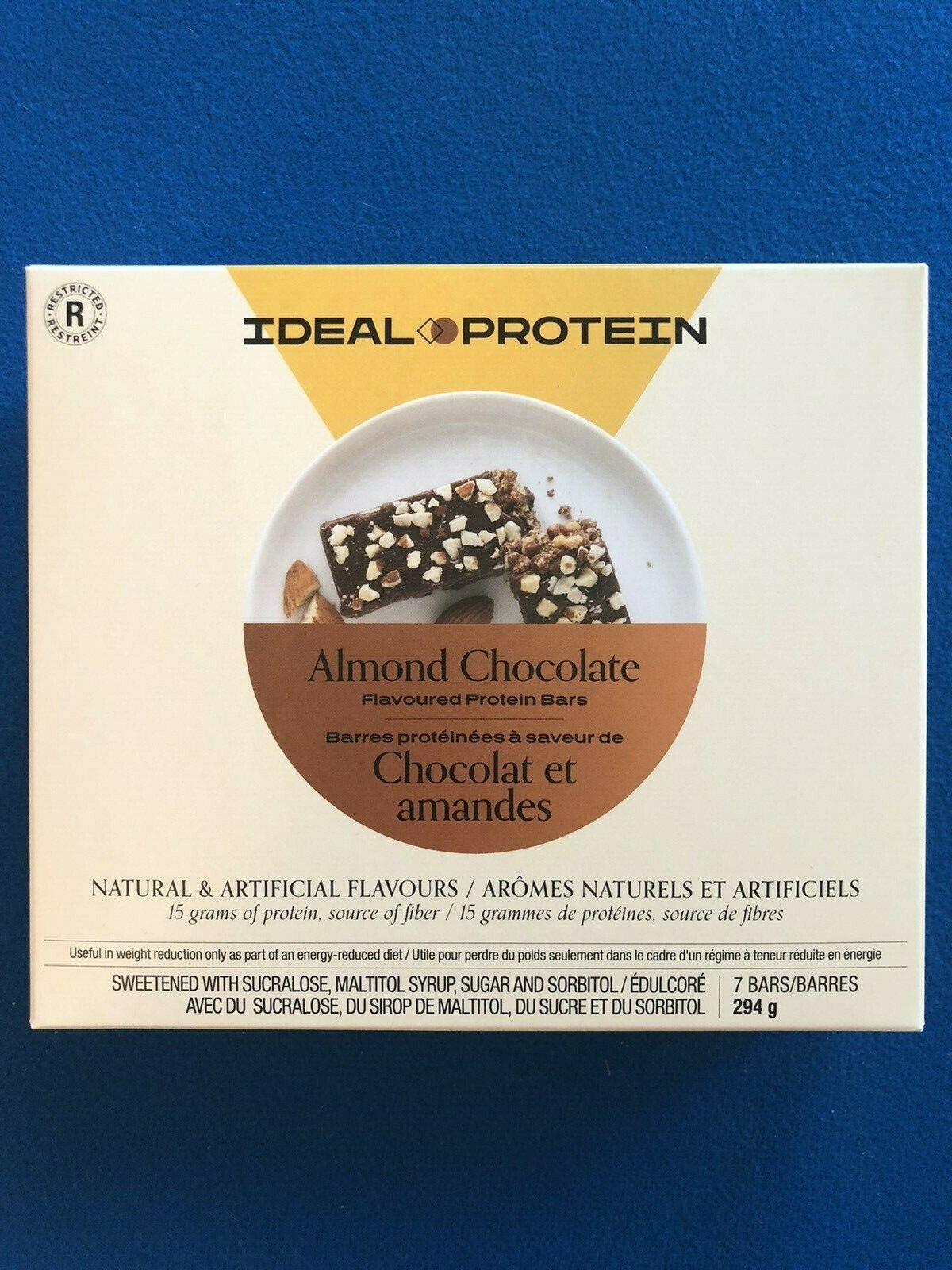 Ideal Protein Almond Chocolate Protein Bars - 7 Bars - EXP 4/30/22 - FREE SHIP