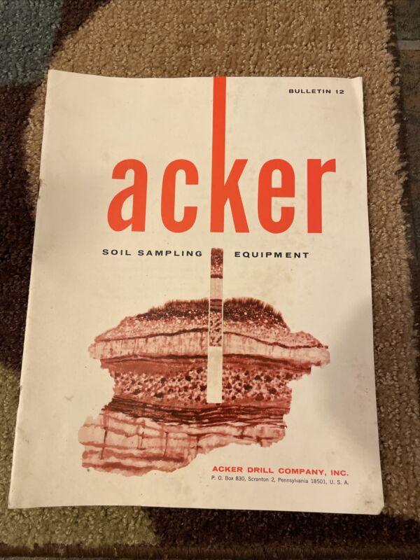Vintage Brochure for Acker Soil Sample Equipment