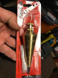 Task Solid Brass 12oz Plumb Bob for sale.