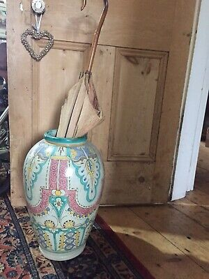 Very Large Antique Morrocan? Vase Perfect For An Umberella Holder