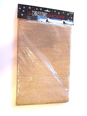 108 In x 28 IN Gold Metallic BURLAP Christmas Fabric Garland Crafts DECORATION