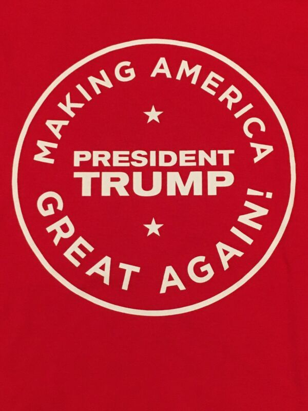 President TRUMP Making America Great Again! Red Shirt Sz XL X-Large