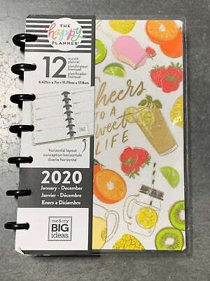 The Happy Planner- Cheers To A Sweet Life Mini 2020 Planner 12 Month Mmbi