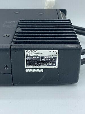 Kenwood Tk-5710-k Ver. 3.0 Vhf P25 50watt Rear Mount Radio 136-174 Mhz