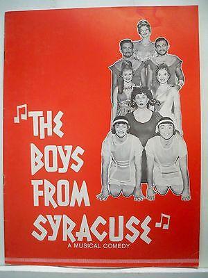 THE BOYS FROM SYRACUSE Souvenir Program REVIVAL TOUR Rodgers & Hart 1964