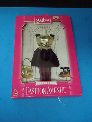 "BARBIE, ""FASHION AVE PARTY"" W/PURPLE & GOLD DRESS #18155"