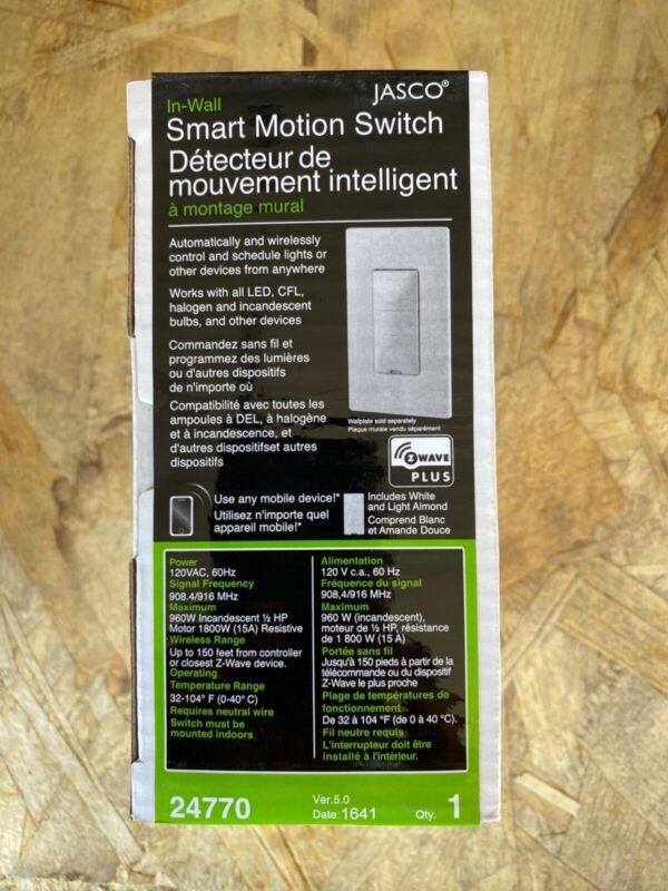 Jasco Smart Motion Switch, NEW, Z-Wave Plus