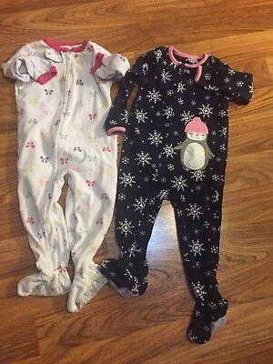 2t Girls Lot Clothes Pajamas Carters