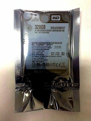 Western Digital 320GB 2.5 7200RPM SATA Laptop Hard Drive GAMING Black WD3200BEKT