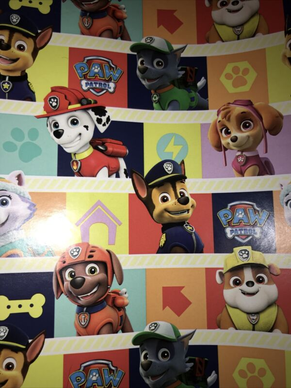 XXL+Official+Paw+Patrol+Gift+QUALITY+Paper+Folded+Sheet+2M+x+69cm++ANY+OCCASION