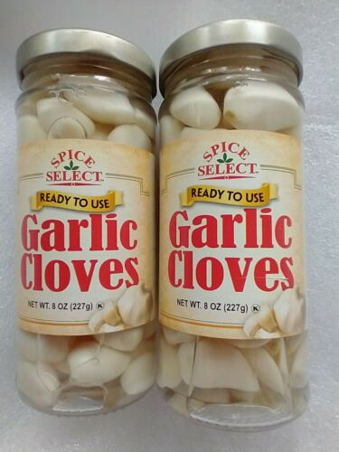 2 PAK~ SPICE SELECT BRAND~ Pickled Garlic Cloves~ 8oz jars~ BB  2023
