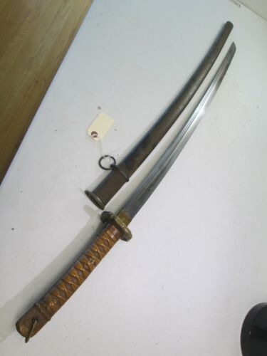 WW2 JAPANESE NCO OFFICERS SWORD RARE COPPER HANDLE KATANA MATCHING NUMBERS  #C14