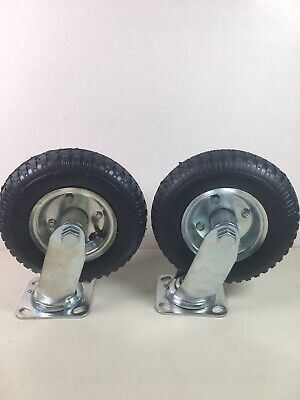 8 Inch Pneumatic Caster Swivel Casters Wheel 2 Pack New Cart