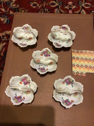 Vintage dainty Made in Japan  Butter Pat Baskets Dishes Porcelain lot of 5