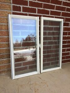 "Two Vinyl Windows (17""x34"")"