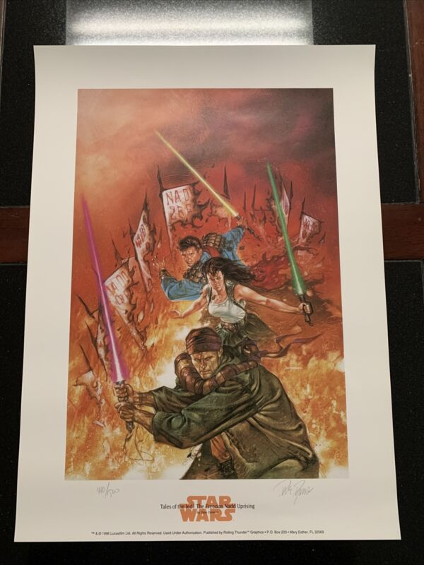 """STAR WARS LlMITED EDITION LITHO (1996) SIGNED BY DAVE DORMAN 16""""x22""""!"""