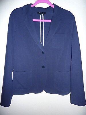 NEW Talbots Navy Blue Button Front Blazer/Jacket 14