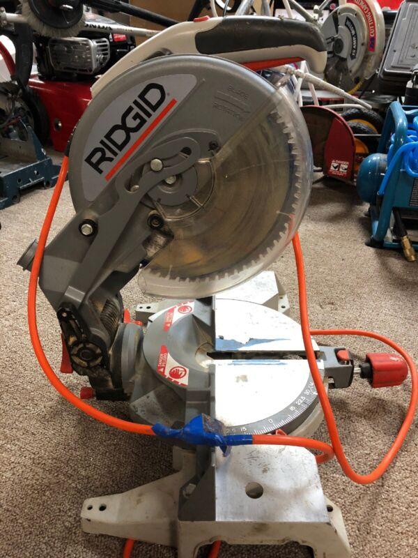 """USED! RIDGID MS1050-1 DUAL BEVEL MITER SAW 15AMP 10"""""""