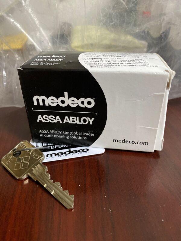 """Medeco Z01 Cam 2-1/4"""" Mortise Cylinder 105600 w/ Key"""